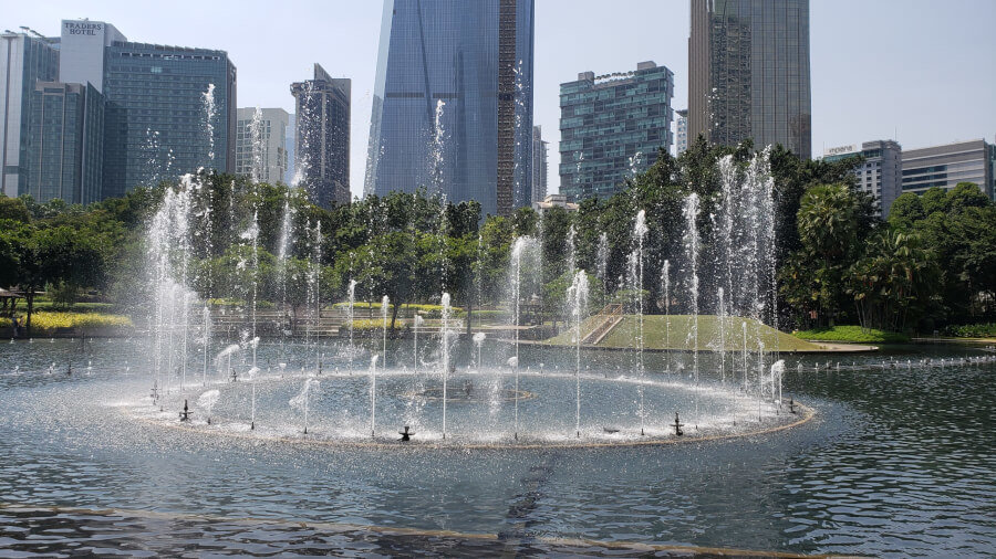 KLCC公園の噴水