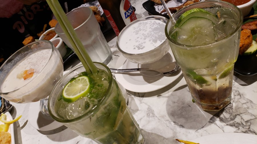 lemongrass mojito, assam refresher & sago gula melaka