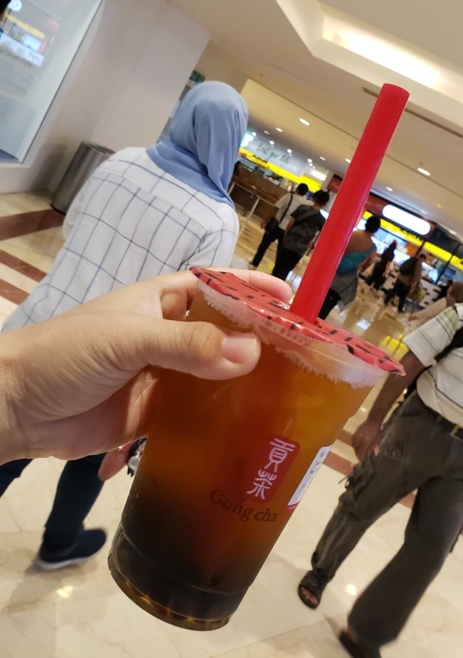 Gong Cha (Suria KLCC) green tea with bubble